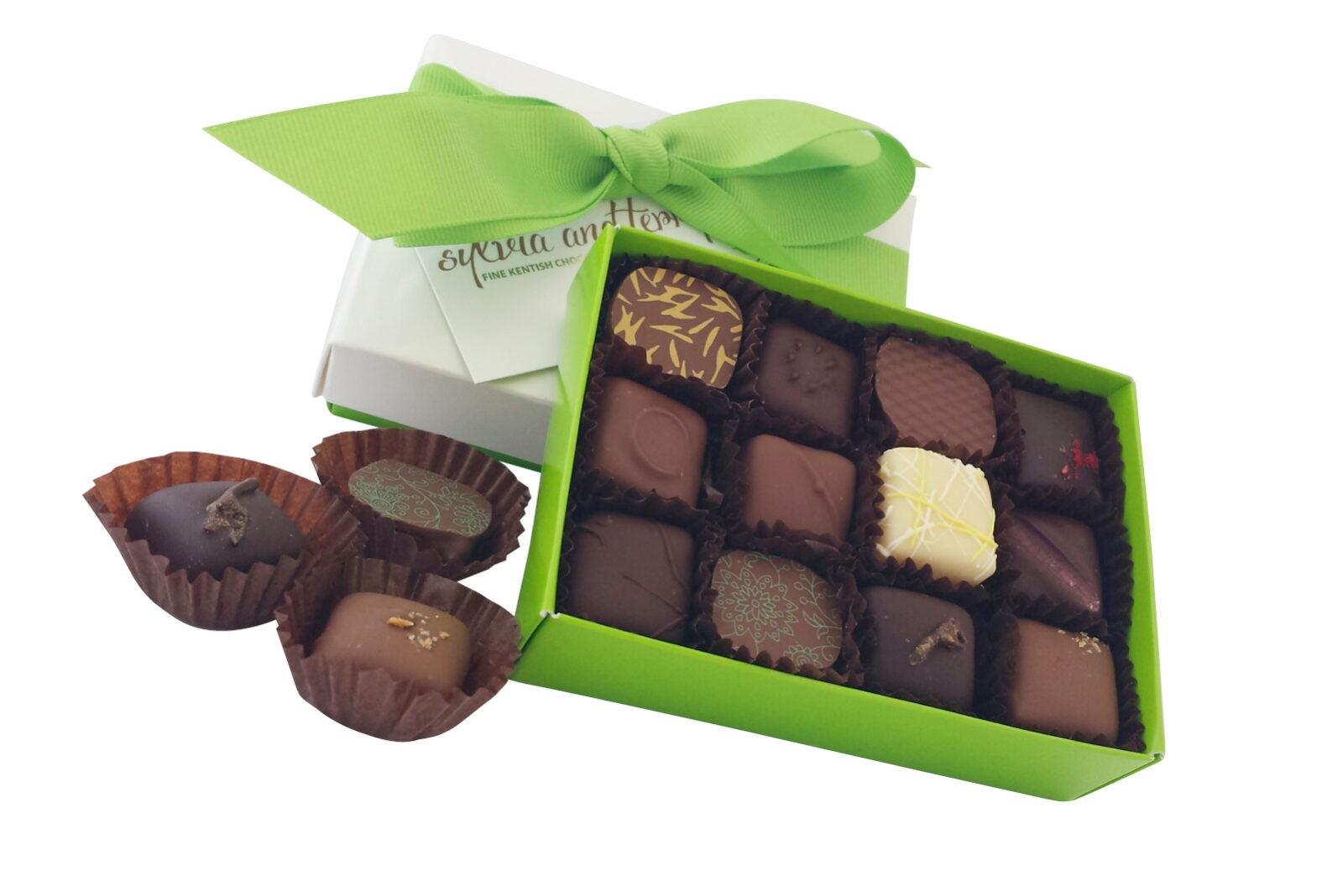 Small fresh chocolate box