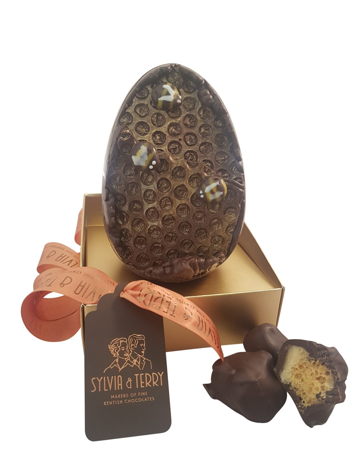 dark honeycomb egg