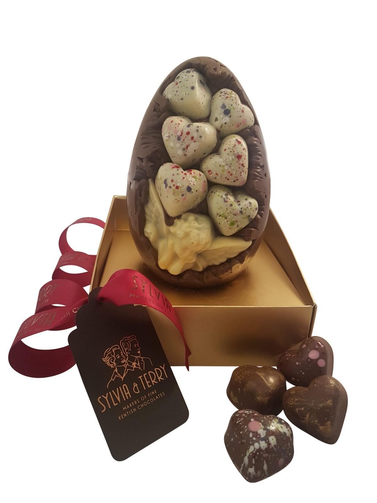 love heart egg